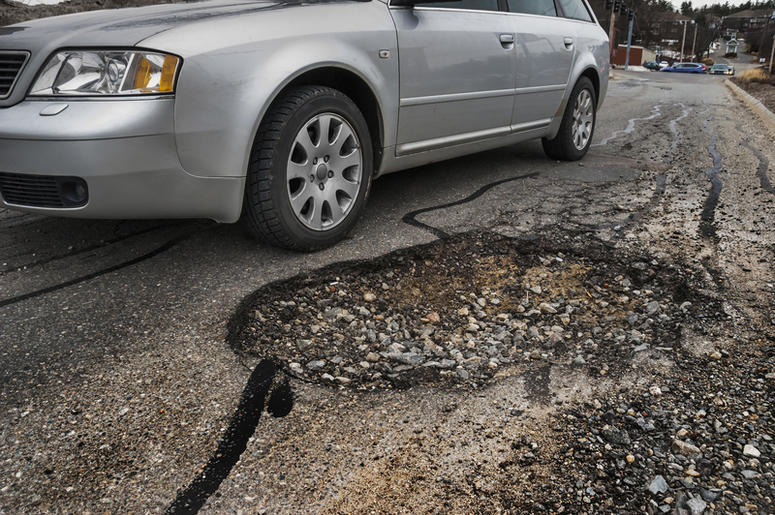 Huge Pothole