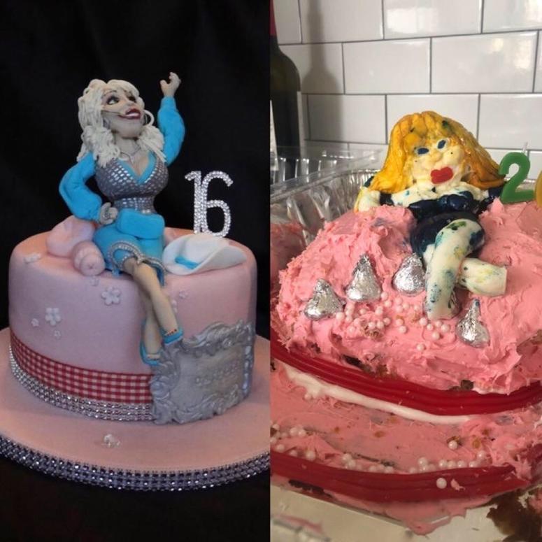 Dolly Parton cake fail