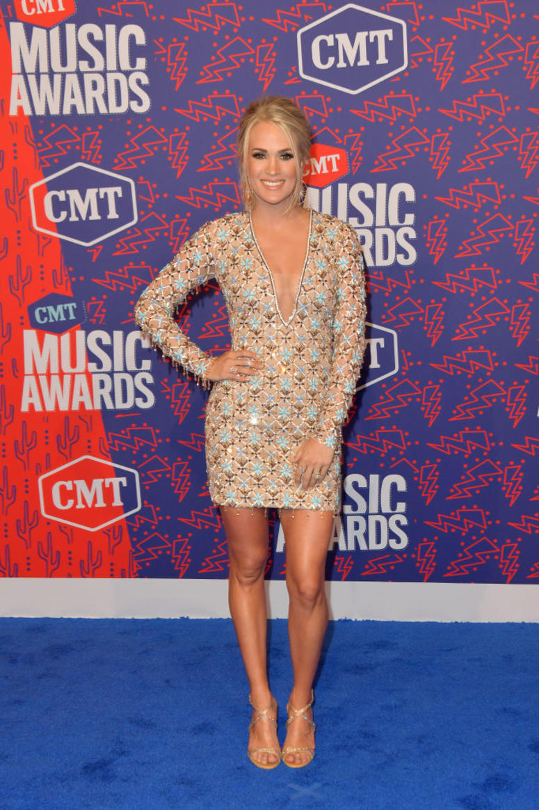 Carrie Underwood attends the 2019 CMT Music Awards at Bridgestone Arena on June 05, 2019 in Nashville, Tennessee