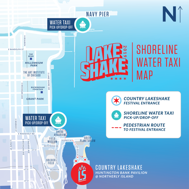 LS Water Taxi Map