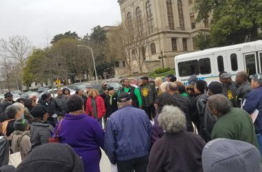 Those against splitting the City of Stockbridge into 2 cities rallied outside the State Capitol ahead of the House vote Tuesday.