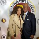 State Representative Calvin Smyre is shown with Radio.com's Maria Boynton during the 2017 GA Legislative Black Caucus dinner in Atlanta