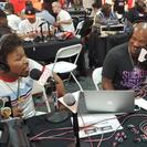 Shawn Porter with Big Tigger and JR from V-103