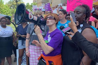 Actress Frances Fisher spoke to the Stop the Bans Protest at the Georgia State Capitol on May 21, 2019