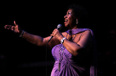 Aretha Franklin performs at the Chicago Theatre on State Street in Chicago, Illinois, May 19, 2011.
