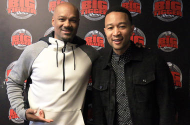 Big Tigger with John Legend at V-103 in Atlanta