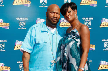 Rapper Bun B and his wife Queenie at the 2008 BET Awards
