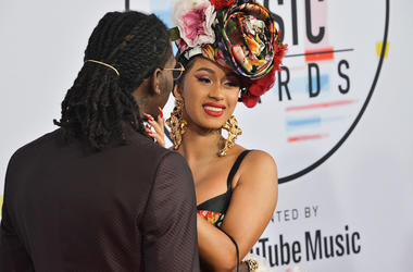 Offset and Cardi B at the 2018 American Music Awards held at Microsoft Theater on October 09, 2018 in Los Angeles, CA, USA
