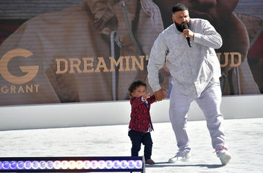 DJ Khaled and his son Asahd