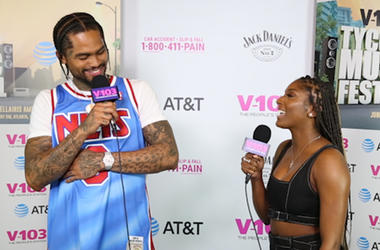 Dave East backstage at Tycoon Music Festival 2019