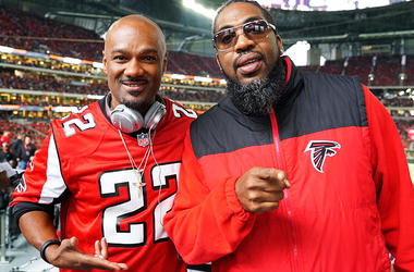 Big Tigger And Pastor Troy At The Falcons VS Cardinals Game December 16th 2018