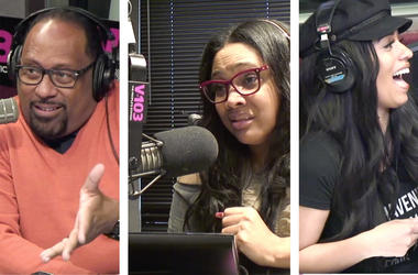 Frank Ski, Monie Love and Melyssa Ford discuss male infidelity in relationships on V-103