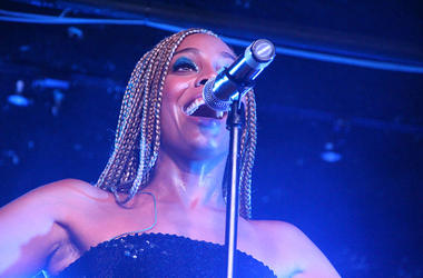 Jade Novah performs at The Loft in Atlanta on August 23, 2018 at V-103's Soul Session