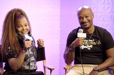 Janet Jackson and Big Tigger in the V-103 studios August 31, 2018