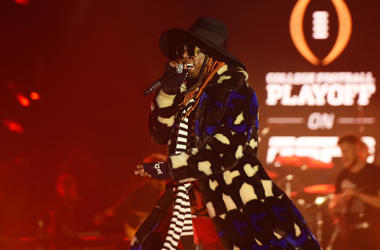 Lil Wayne performs during the 2019 College Football Playoff National Championship Game Halftime Show at Treasure Island on January 7, 2019 in San Francisco, California