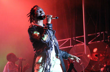 Miguel performing live at ONE Musicfest 2018