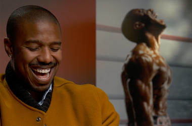 Michael B Jordan sits for an interview with V-103's Frank Ski