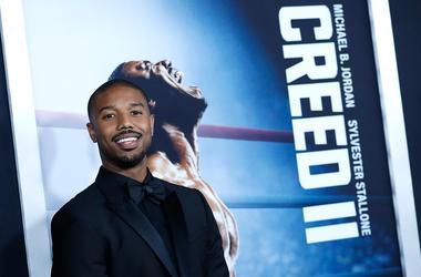 "Michael B. Jordan attends ""Creed II"" premiere in New York City on November 14, 2018."