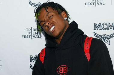 Rich the Kid attends the 2018 Tribeca Studios and MCM Sneak Preview Of Women's Hip Hop At Public Hotel (Public Arts) on April 24, 2018 in New York City.