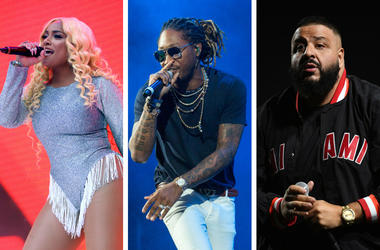 Stefflon Don on stage during Capital's Summertime Ball with Vodafone at Wembley Stadium, London. / Future during Summerfest Music Festival at Henry Maier Festival Park on July 8, 2017, in Milwaukee, Wisconsin / DJ Khaled performs.