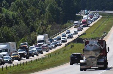 Traffic from highway evacuation