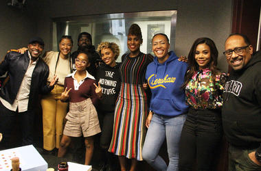 """The cast and crew of the movie """"Little"""" visit V-103's The Morning Culture with Frank Ski, Jade Novah & JR"""