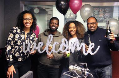 Producer Nina Brown, JR, Jade Novah and Frank Ski of V-103's The Morning Culture