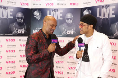 Big Tigger with Maxwell at V-103 Live