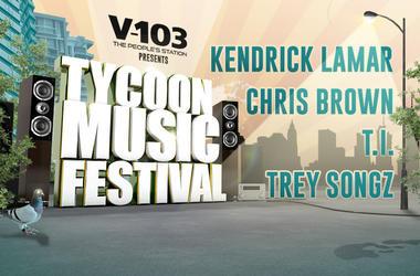 V-103's Tycoon Music Festival flyer