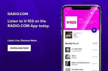 V-103 mobile app Radio.com
