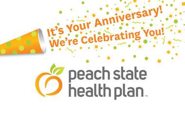 Peach State Health Plan Anniversary