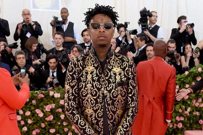 21 Savage attends the 2019 Met Gala