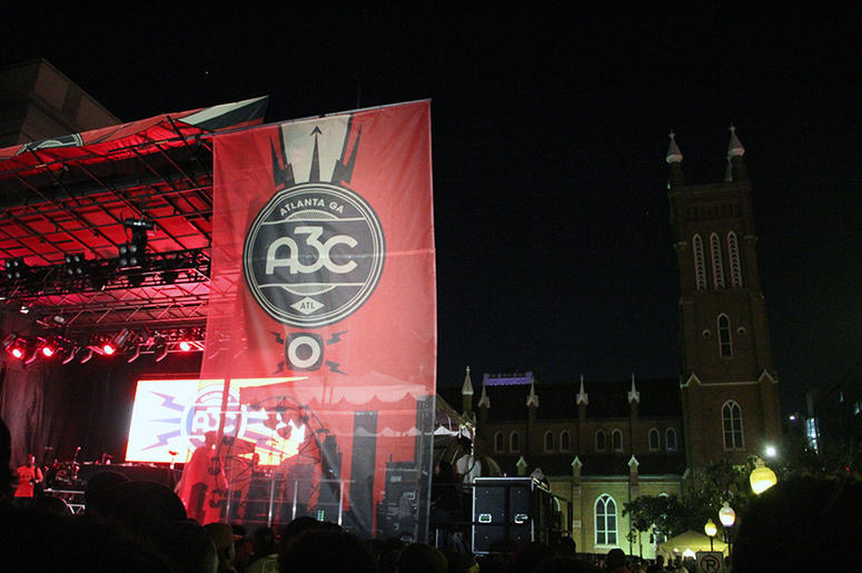 The main outdoor stage at A3C in Atlanta on October 7, 2018