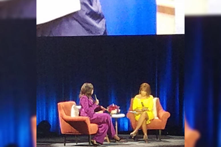 Former first lady Michelle Obama was engaged in a conversation with journalist Gayle King during the appearance in Atlanta GA.