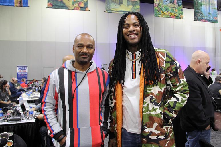 V-103's Big Tigger interviews Waka Flocka Flame during Super Bowl Experience in Atlanta.