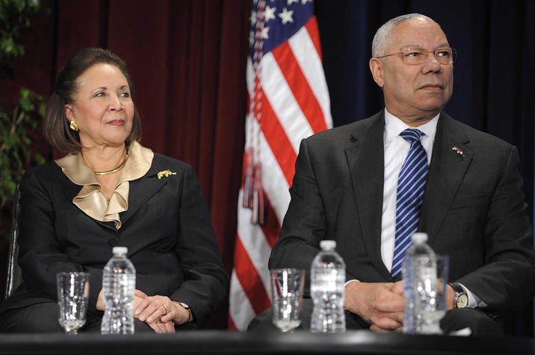 Alma and Colin Powell