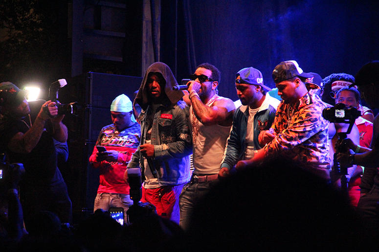 All four members of Harlem rap group Dipset perform at A3C in Atlanta on October 7, 2018