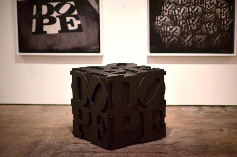 "Artwork created by D.L. Warfield, displayed during his ""My Favorite Things"" art exhibit on November 30, 2018, in Atlanta."