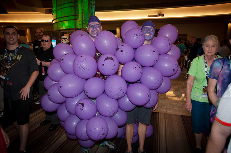 Dragon Con attendees together as grapes