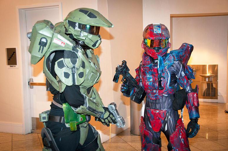 Halo characters at Dragon Con
