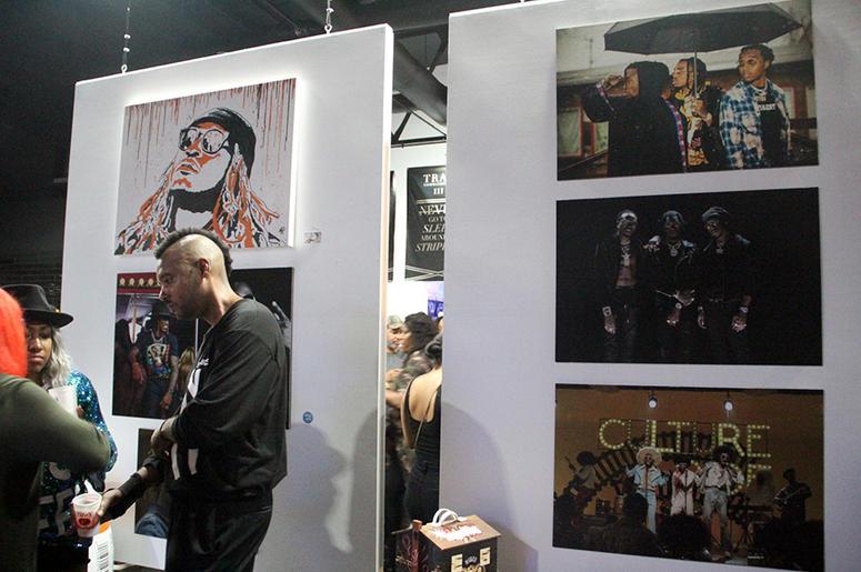 Exhibits representing Atlanta rappers Future and Migos inside T.I.'s Trap Music Museum