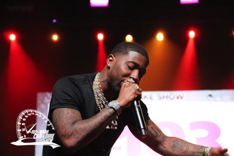 YFN Lucci hits the V-103 Car & Bike Show Stage | THE