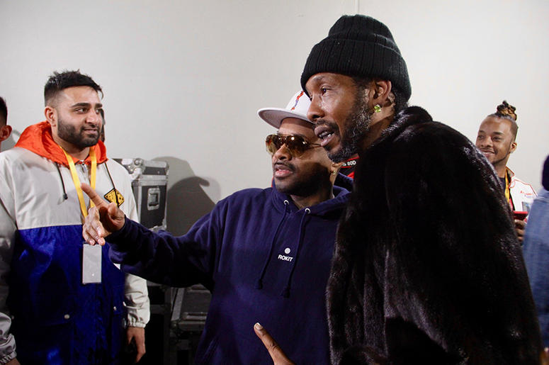 Jermaine Dupri and Big Gipp pose for a photo backstage at the Puff Puff Pass Tour in Atlanta