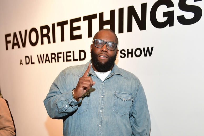 """Killer Mike attends Trap Music Museum curator D.L. Warfield's """"My Favorite Things"""" art exhibit on November 30, 2018, in Atlanta."""