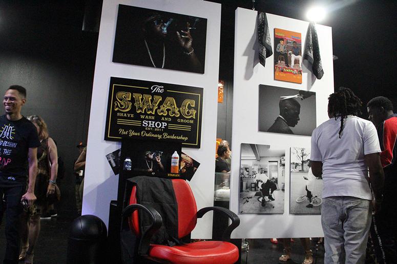 Exhibits representing Atlanta rapper Killer Mike and Baton Rouge rapper Boosie Badazz inside T.I.'s Trap Music Museum