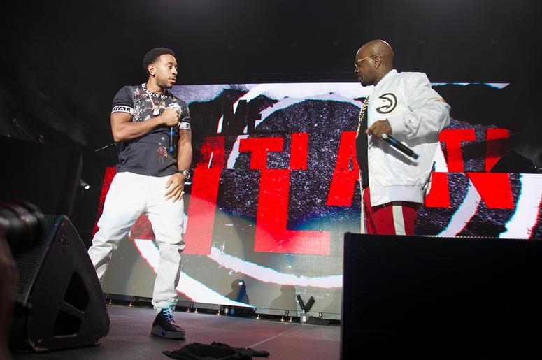 Jermaine Dupri and Ludacris on stage at State Farm Arena