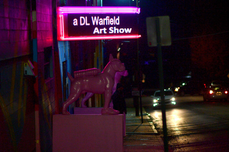 """Outside the Westside Cultural Arts Center during D.L. Warfield's """"My Favorite Things"""" art exhibit on November 30, 2018, in Atlanta."""