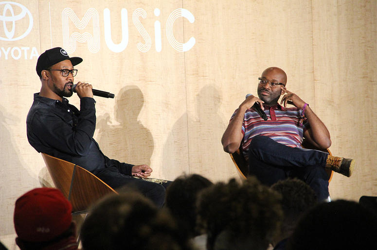 Wu-Tang Clan's RZA talks to NPR's national hip-hop writer Rodney Carmichael at A3C in Atlanta on October 5, 2018