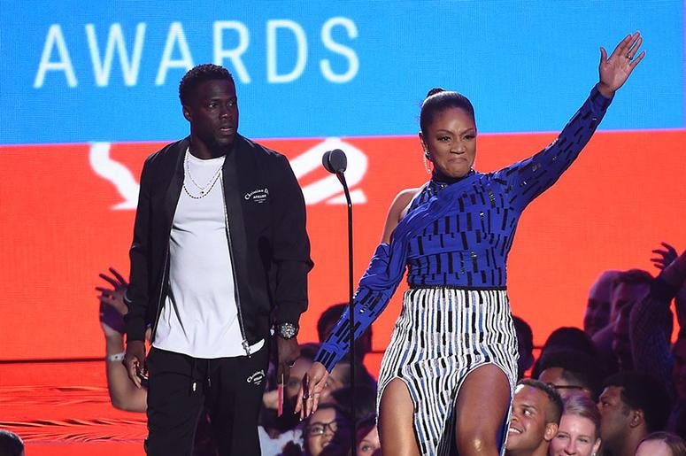 Tiffany Haddish and Kevin Hart at the 2018 MTV VMAs
