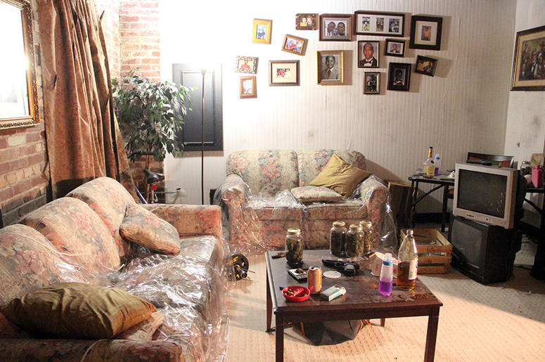 The living room area of T.I.'s Trap Music Museum